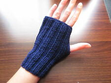 Hand Knitted Fingerless Gloves, 80% Wool, 20% Acrylic