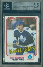 1981-82 TOPPS LOA # 25 WILF PAIEMENT PROOF BGS 8.5 SOLO FINEST GRADED UNIQUE