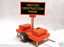 Miniatronics # 8500101 Mobile Highway Sign Caution Construction Ahead  HO MIB