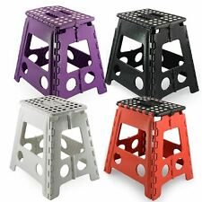More details for new multi purpose plastic folding step stool home kitchen foldable easy storage