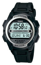 Casio W756-1A Men's Black Resin Band Alarm Chronograph Interval Timer Watch