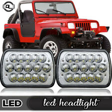 Pair LED Headlights Headlamp Upgrade Hi/Lo Beam fit Jeep Wrangler YJ 1987-1995