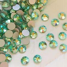 Swarovski Crystals 100 X Ss20 Peridot AB Diamantes Rhinestones Glue on Green