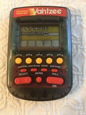 1995 Milton Bradley Yahtzee Black Electronic Hand Held Game Tested Works Great!