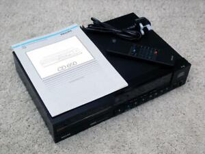 Philips CD 650 Compact Disc Player with Remote Control ~ Clean / Tested