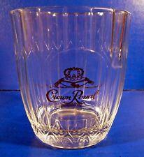 6 Crown Royal Bar Glasses Old-Fashioned Rocks Von Pok Italy Gold Logo (b)