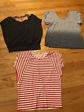 AMERICAN EAGLE OUTFITTERS ++ J CREW Lot of 3 Shirts Tops Blouses Womens Sz L #c1