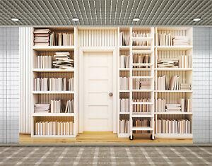 Office Bookshelf Library Background Bookshelves Photography Backdrop Studio Prop