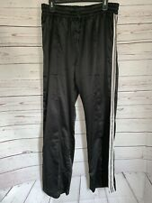 NEW Abercrombie & Fitch Mens Windbreaker Sweatpants Black With Stripes Size XL