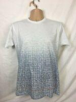 Mens T Shirt Size Medium White top Maths Graphics Print 100% cotton Free P&P