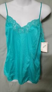 VENTURA Pink Green Blue  Camisole Top Vintage Style Nylon Size  1X 2X  3X