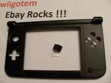 Nintendo 3DS XL Replacement Hinge Part Black Bottom Middle Shell/Housing w/Lock