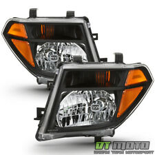 For 2005-2008 Frontier 05-07 Pathfinder Black Headlights Headlamps Left+Right