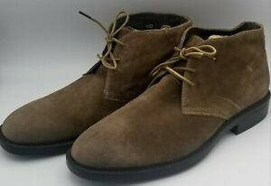 Joseph Abboud Brown Suede Lace Up Men's Casual Formal Ankle Shoes Loafers SZ 10D
