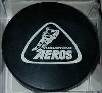 1972-75 WHA HOUSTON AEROS vintage HOCKEY OFFICIAL GAME PUCK OLD SLUG CANADA
