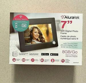 "Aluratek - 7"" Touchscreen LCD Wi-Fi Digital Photo Frame MIB SEALED (List $99.00)"