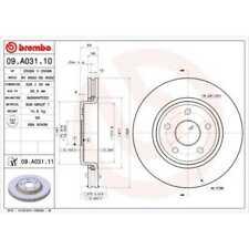 BREMBO 2x Bremsscheiben Innenbelüftet beschichtet 09.A031.11