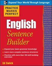 Practice Makes Perfect English Sentence Builder (Paperback or Softback)