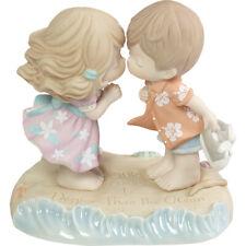 $ PRECIOUS MOMENTS Porcelain Figurine OCEAN SUMMER VACATION Love Couple Wedding