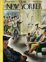 1947 New Yorker August 30 Party at the VFW Convention in Atlantic City- Alajalov