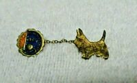 1939 New York World's Fair Emblem Gold Colored Scottie Dog Pin