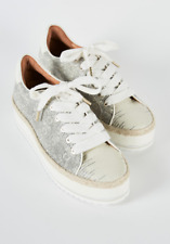 Joie Dabnis Ivory Ring Lizard Lamn Nappa Shoes Sneakers size 38.5 $298