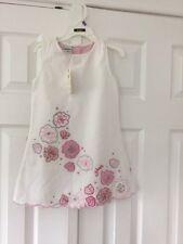 Osh Kosh Beautiful White/ Pink Dress Age 3 Years New With Tags