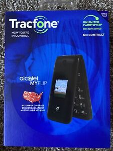 New Tracfone Alcatel My Flip MyFlip A405 Prepaid Basic Cell Phone TFALA405DCP