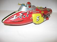Marx 1930's Flash Gordon #5 Rocket Fighter  Space Ship tin wind up toy works