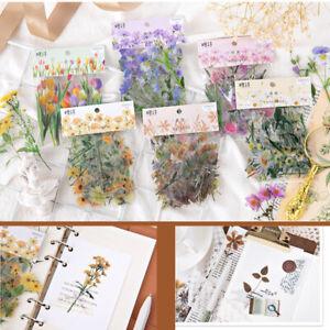 40Pcs DIY Korean Japanese Journal Diary Flower Stickers Scrapbooking Decor Craft