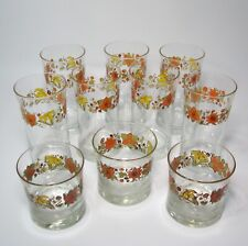 Lot of Corelle Indian Summer Drinking Glasses Tumbler 8 And 16 Ounce Total 10