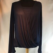 Kim and Cami Top Navy Blue Long Sleeve Shirt Size M New without Tag
