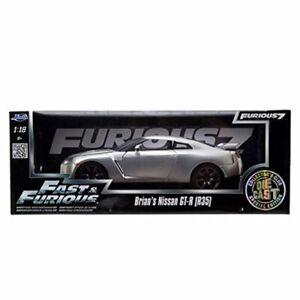 RARE JADA FAST & FURIOUS BRIAN'S NISSAN GT-R (R35) FURIOUS 7 1/18 DIECAST CAR
