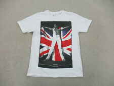 Queen Shirt Adult Large White Gray Freddie Mercury Music Concert Rock Mens A28 *