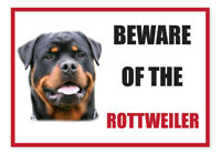 Funny Beware of the ROTTWEILER Dog Vinyl Car Van Decal Sticker Pet Animal Lover