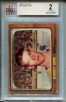 1966 '66 Topps Hockey #35 Bobby Orr Bruins Rookie Card RC Graded BVG 2