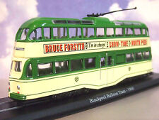 1/76 DIECAST 1934 BLACKPOOL BALLOON TRAM 1960'S LIVERY WITH BRUCE FORSYTH ADVERT