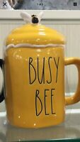 "Rae Dunn 2021 Spring Yellow Mug ""BUSY BEE"" w/Topper NEW!  HTF! Low Ship! 🐝🐝🐝"
