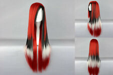 Ladieshair Cosplay Wig Perücke farbmix rot 80cm glatt Karnevall Halloween F7T
