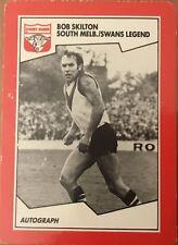 1989 AFL VFL SCANLENS SYDNEY SWANS BOB SKILTON LEGEND #82 CARD