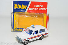 DINKY TOYS 254 RANGE ROVER POLICE NEAR MINT BOXED RARE SELTEN RARO SPEEDWHEELS!