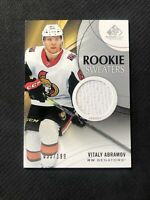 2019-20 SP GAME USED VITALY ABRAMOV ROOKIE SWEATERS JERSEY #ed 35/199