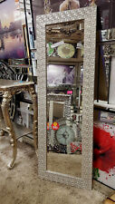 John Lewis Full Length Wall Mirror Mosaic Frame Antique Silver 132x46cm