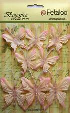 Glittered FABRIC Butterflies BLUSH 5 of 35x40mm & 3 of 50x60mm Botanica Petaloo