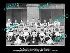 Old Historic Military Photo Of Northamptonshire Regiment Boxing Team 1934 Win