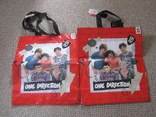 2 NUOVO One Direction forte Bags 36 x 30 CM di più quando esteso Maniglie Nero
