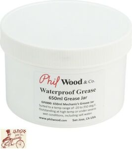 PHIL WOOD WATERPROOF GREASE TUB--16oz