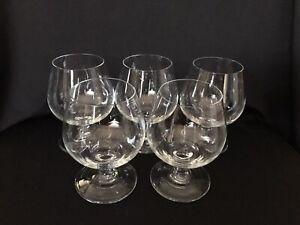 Boxed Set of 5 Vintage Cognac / Brandy Glasses. Small 5oz / 14cl
