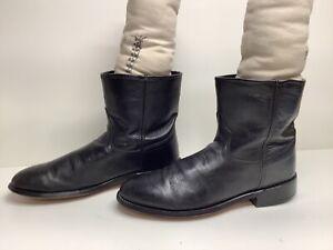 VTG MENS UNBRANDED COWBOY BLACK BOOTS SIZE 10?