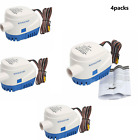 4pack! Automatic Submersible Boat Bilge Water Pump 12V 3.8A Auto Float Switch photo
